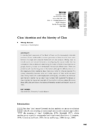 Class identities and the identities of class by Wendy Bottero