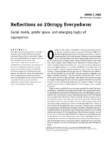 Reflections on #Occupy Everywhere- Social media, public space, and emerging logics of aggregation by Jeffrey S. Juris