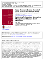 Rethinking prefiguration.  Alternatives, Micropolitics and Goals in Social Movements  by Luke Yates