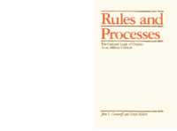 Rules and Processes. The cultural logic of dispute in an African context, by John Comaroff and Simon Roberts