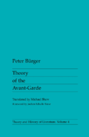 Theory of the Avant Garde-by Buerger Peter