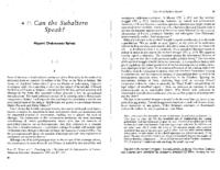 Can the subaltern speak, by Gayatri Spivak