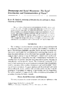 Dramaturgy and Social Movements- The Social Construction and Communication of Power, by Robert D. Benford; Scott A. Hunt