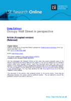 Occupy Wall Street in perspective, by Graig Calhoun