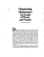 Organizing Democracy -The limits of theory and practice, by Lawrence Goodwyn