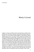 Merely Cultural-by Judith Butler